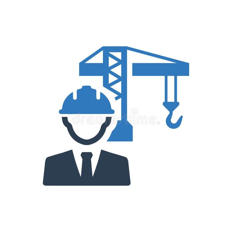 Ingegnere di costruzione Icon illustrazione vettoriale