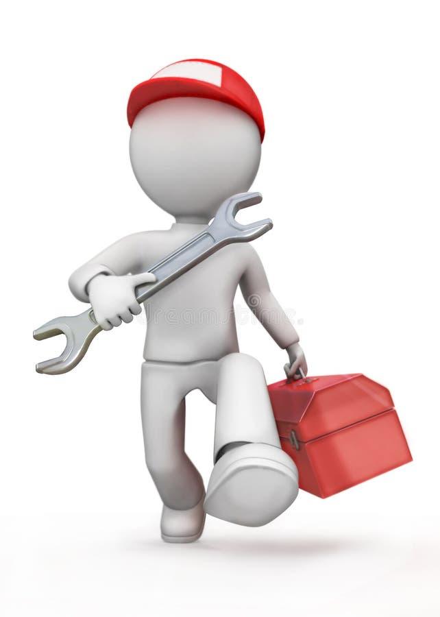 Ingegnere meccanico. royalty illustrazione gratis