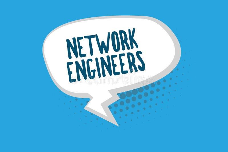 Ingegneri della rete del testo di scrittura di parola Concetto di affari per esperto professionale di tecnologia nel sistema info illustrazione di stock