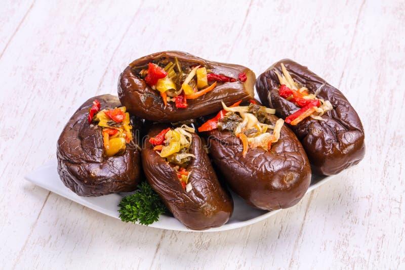 Ingelegde gevulde aubergine royalty-vrije stock foto