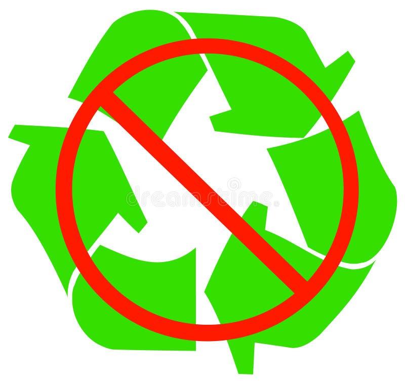 ingen återanvändning stock illustrationer