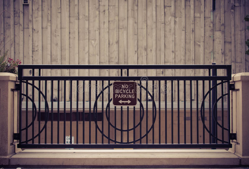 Ingen Bicylce parkering royaltyfri bild