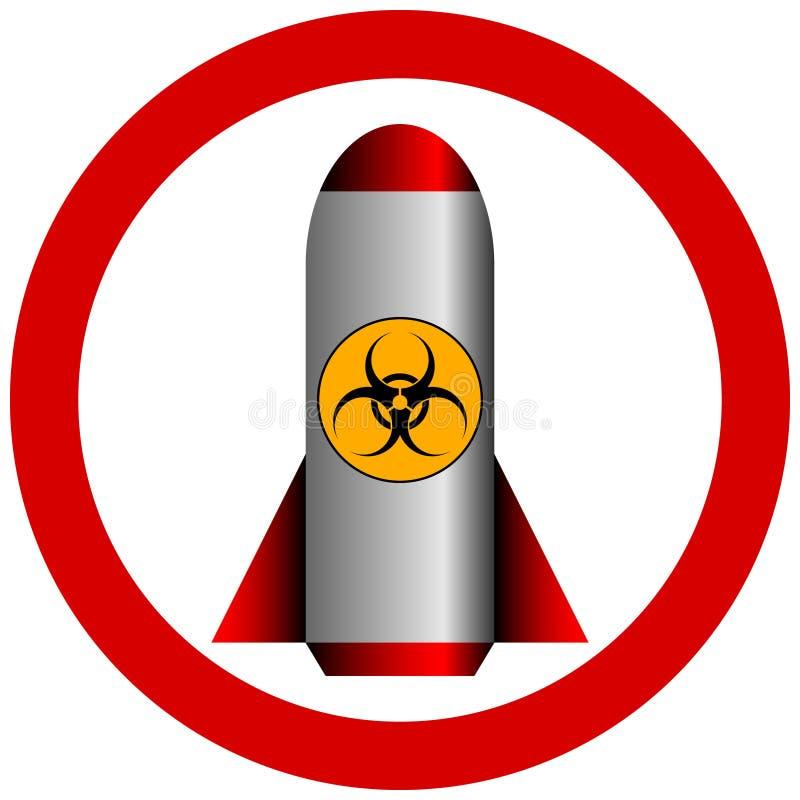 Ingen biohazardraket stock illustrationer