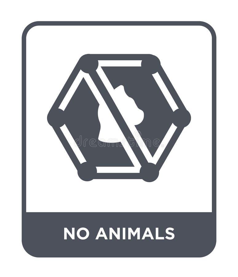 ingen djursymbol i moderiktig designstil ingen djursymbol som isoleras på vit bakgrund ingen modern djurvektorsymbol som är enkel vektor illustrationer