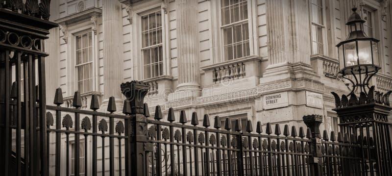 Ingen 10 Downing Street arkivfoto