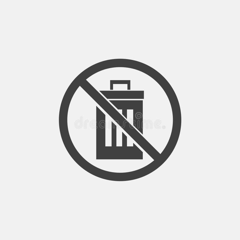 ingen förlorad symbol vektor illustrationer