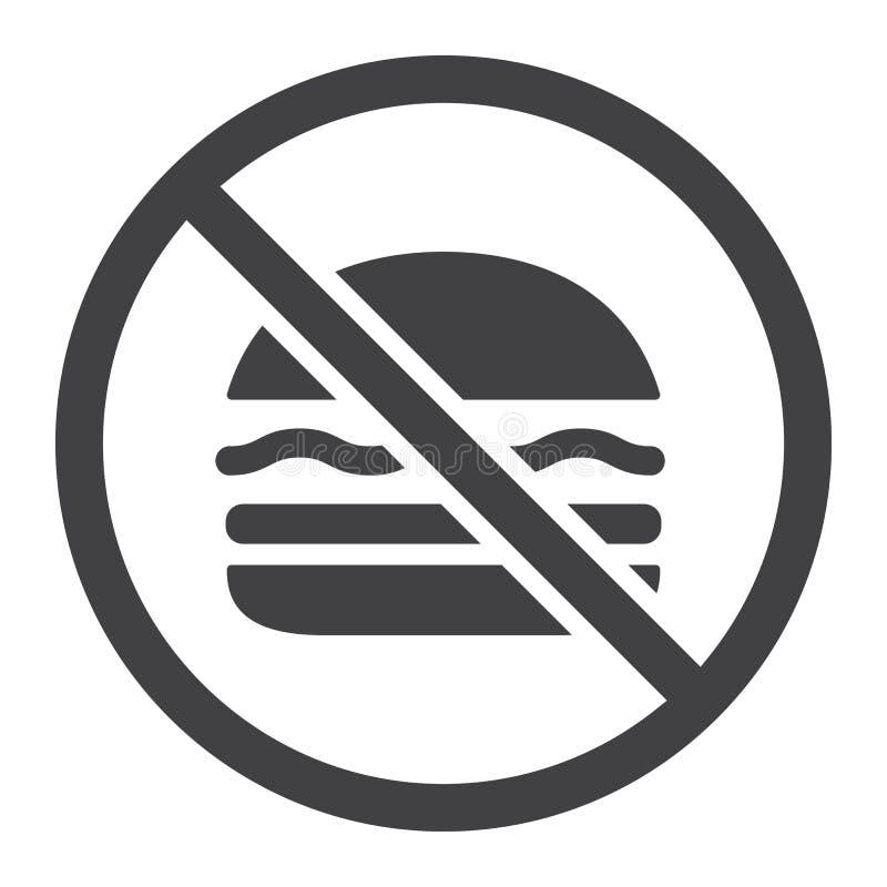 Ingen fastfoodskårasymbol, kondition och sport, stock illustrationer