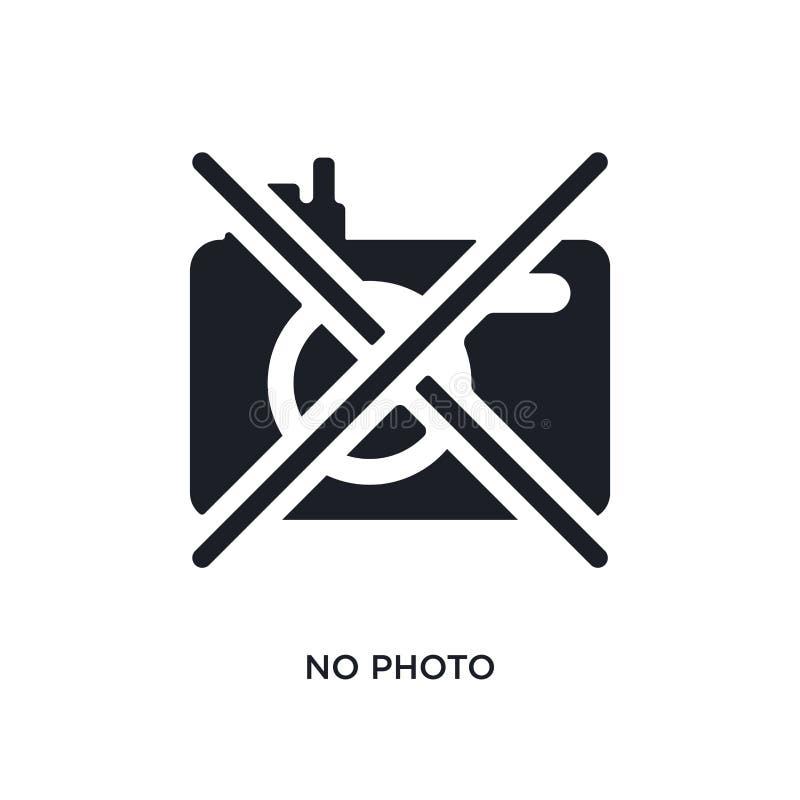 ingen foto isolerad symbol enkel beståndsdelillustration från museumbegreppssymboler ingen för logotecken för foto redigerbar des royaltyfri illustrationer