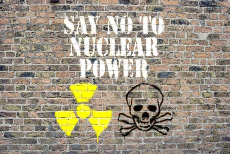 ingen kärn- ström säger till royaltyfria bilder