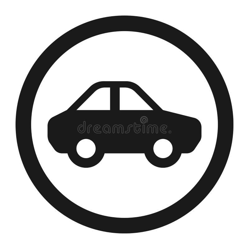 Ingen motorisk och bilteckenlinje symbol vektor illustrationer