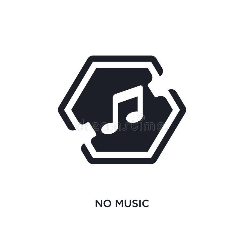 ingen musik isolerad symbol enkel beståndsdelillustration från teckenbegreppssymboler inte för logotecken för musik redigerbar de stock illustrationer