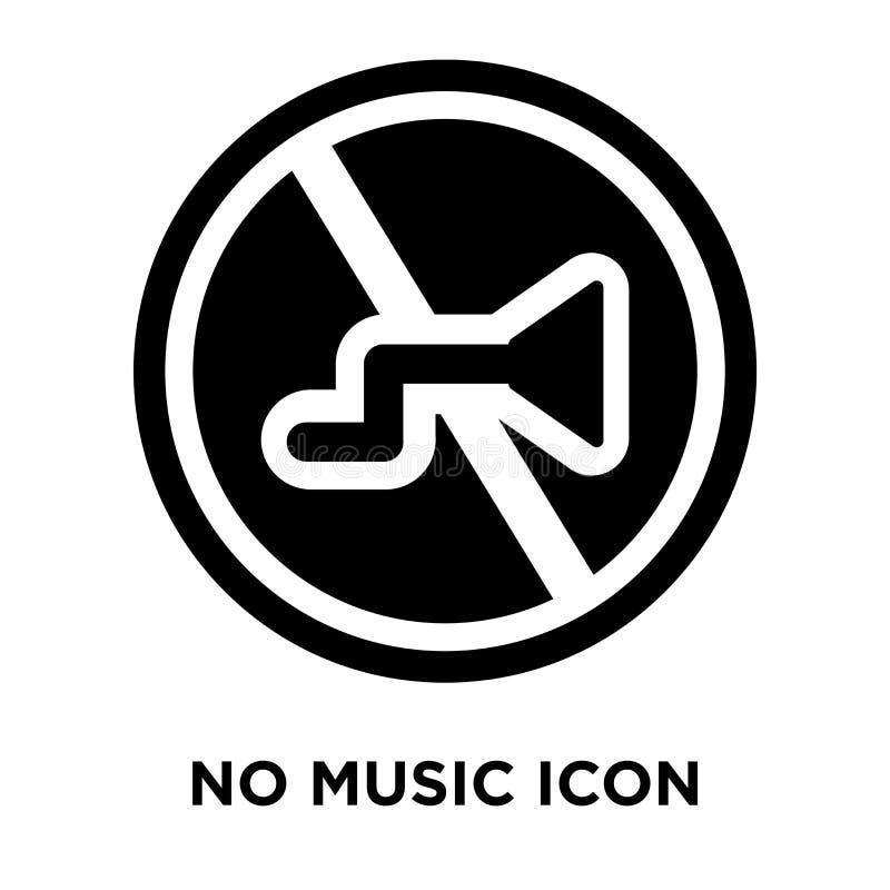 Ingen musiksymbolsvektor som isoleras på vit bakgrund, logobegrepp vektor illustrationer