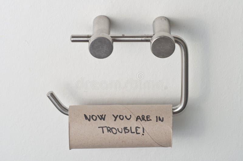 ingen paper toalett royaltyfria bilder