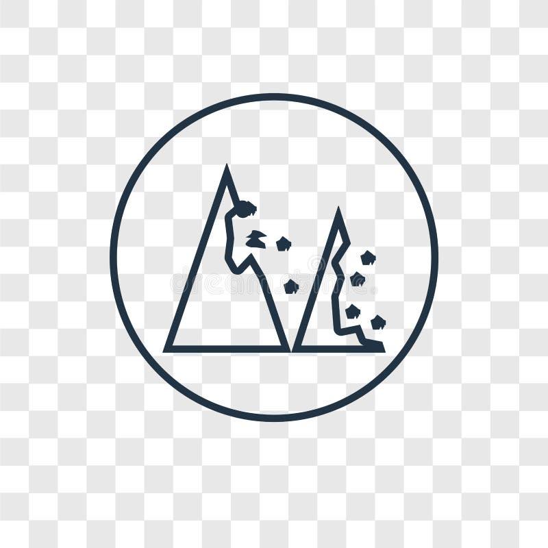 Ingen parkera linjär symbol för begreppsvektor som isoleras på genomskinliga lodisar vektor illustrationer