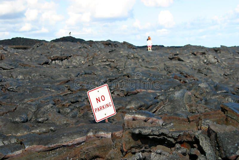 Download Ingen parkering arkivfoto. Bild av utbrott, turister, lava - 34472