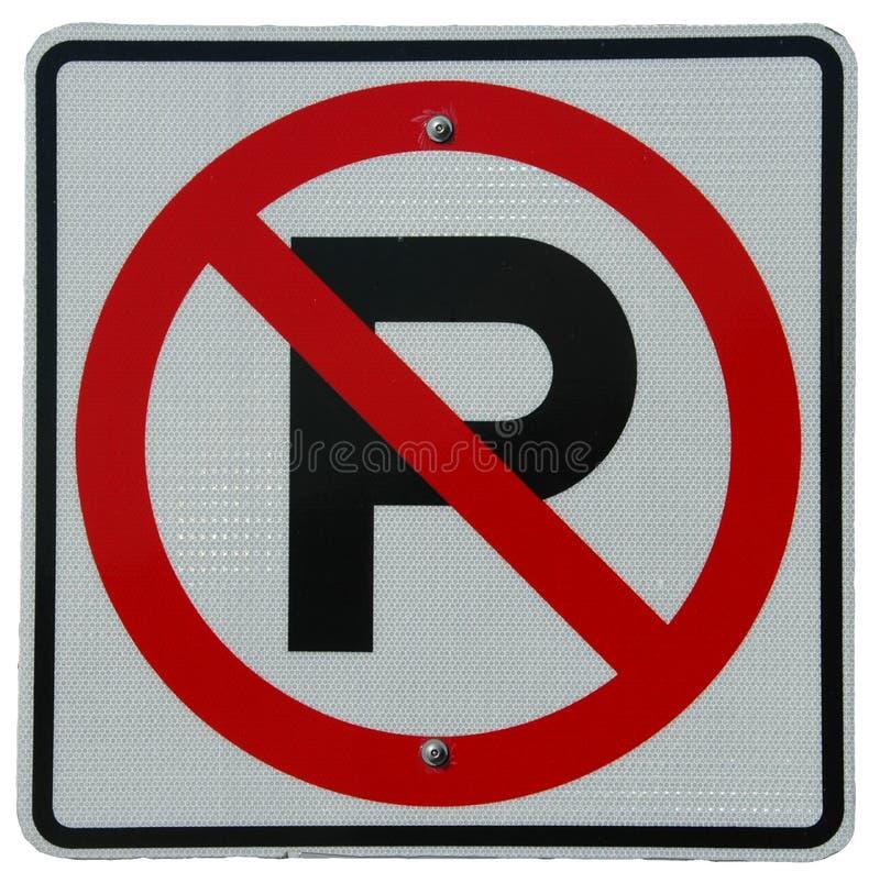 ingen parkering royaltyfria foton