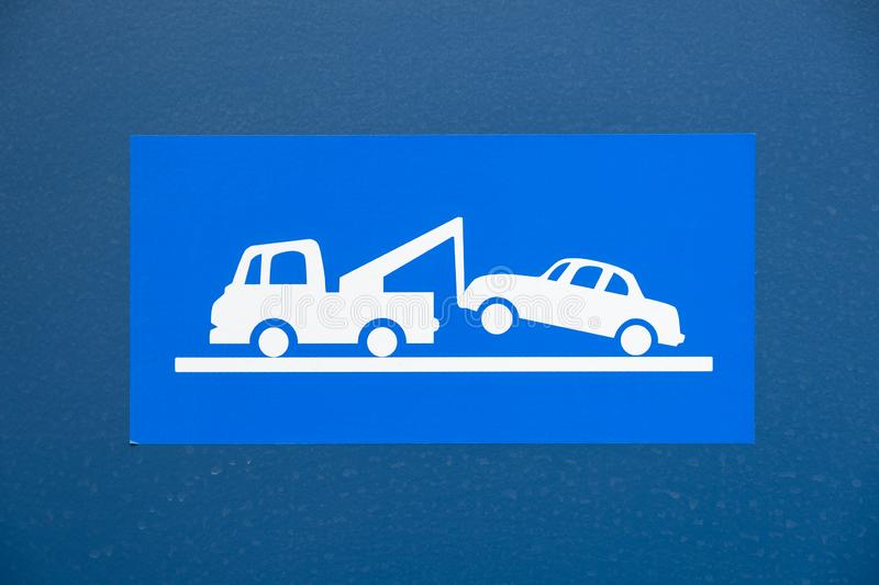Ingen parkering - Tow Truck Sign stock illustrationer