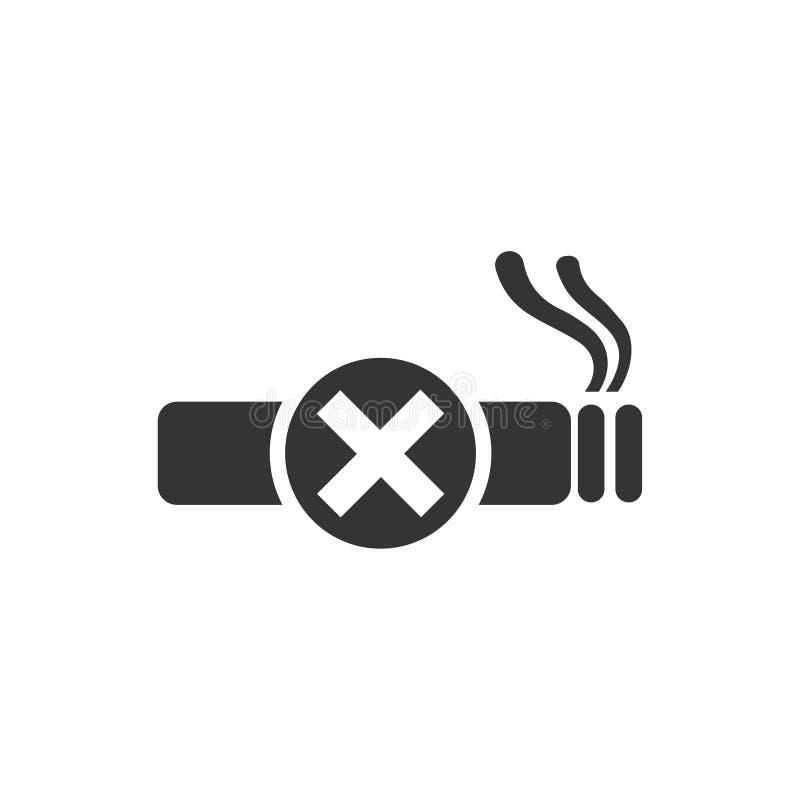 Ingen röksymbol stock illustrationer