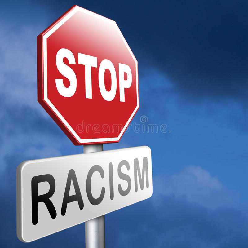 ingen rasism royaltyfri illustrationer
