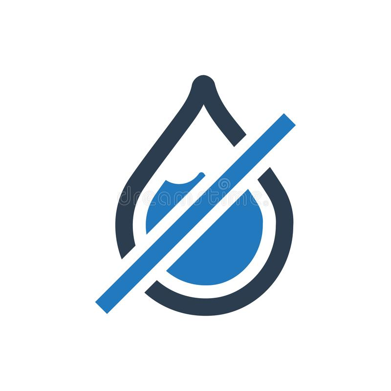 Ingen regnsymbol royaltyfri illustrationer