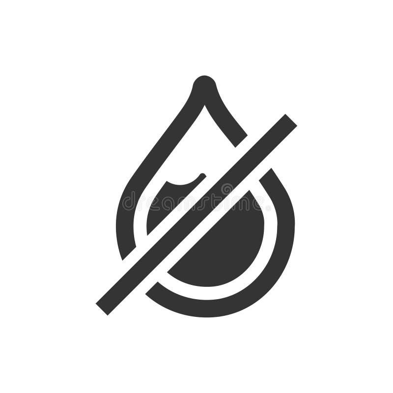 Ingen regnsymbol stock illustrationer