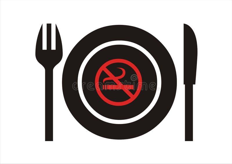 ingen restaurangrökning royaltyfri foto