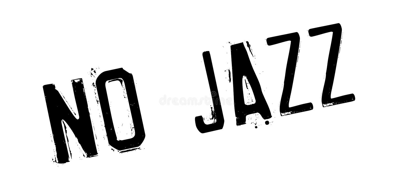 Ingen rubber stämpel för jazz vektor illustrationer