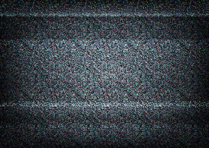 Ingen signalTVillustration Felbegrepp vektor illustrationer