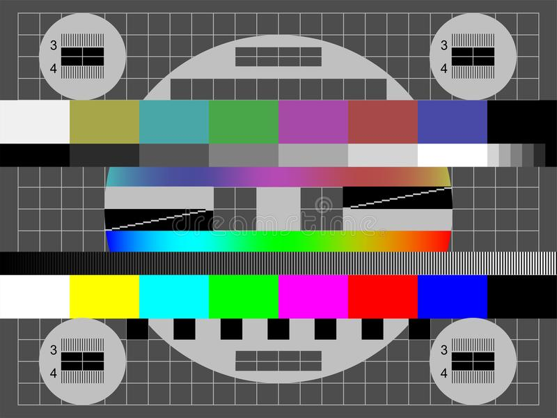 Ingen skärm för prov för färg för signalTVvektor stock illustrationer