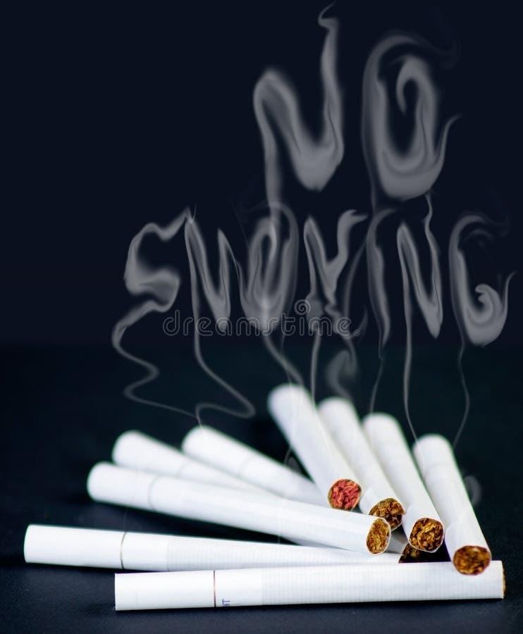 ingen smocking royaltyfri bild