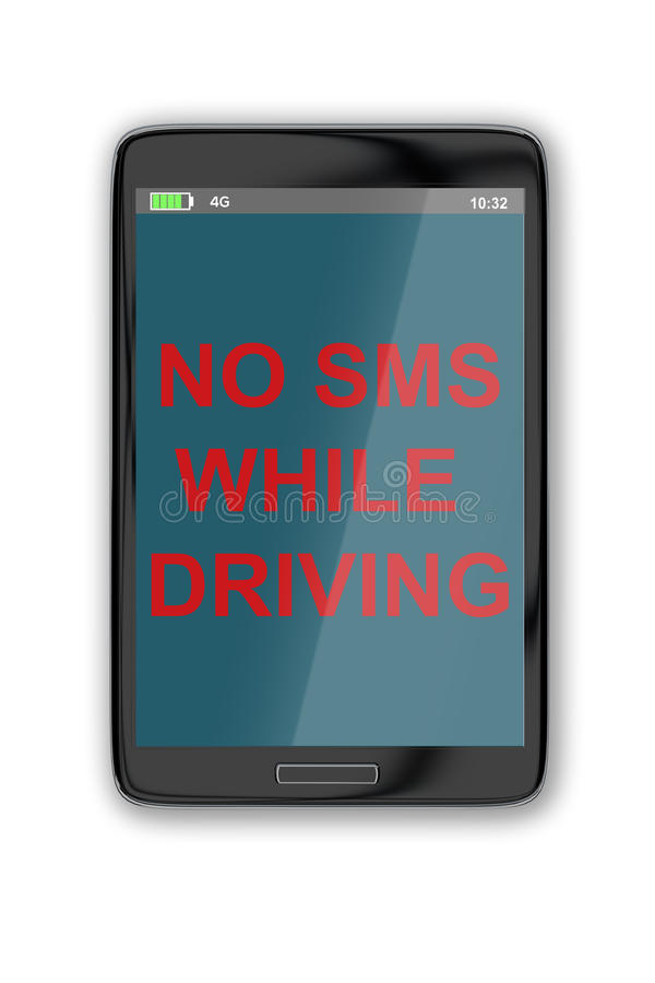 Ingen SMS, medan köra begrepp vektor illustrationer