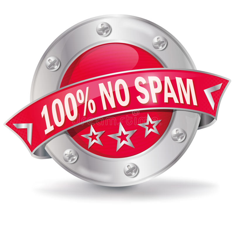 Ingen spam royaltyfri illustrationer