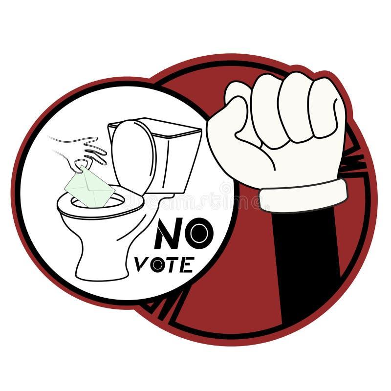 ingen stick röstar royaltyfri illustrationer