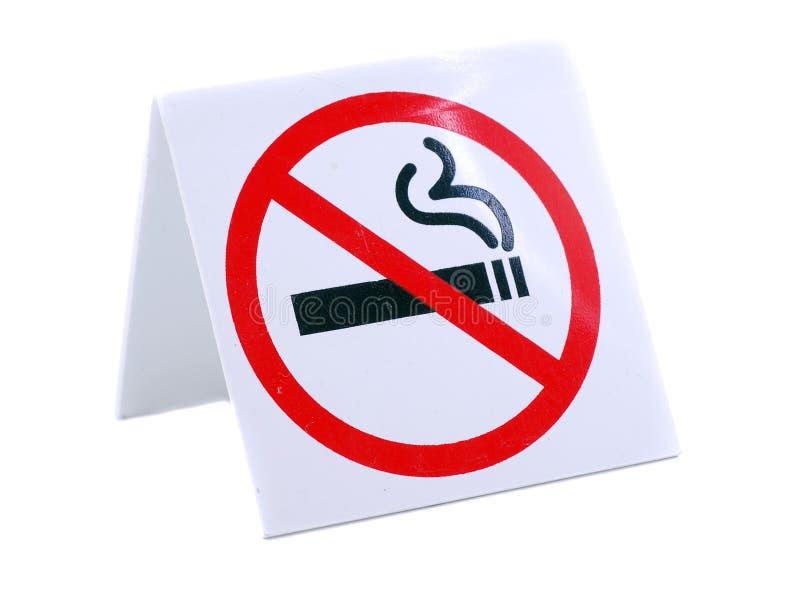 ingen teckenrökning arkivfoto