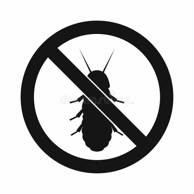 Ingen termitteckensymbol, enkel stil royaltyfri illustrationer