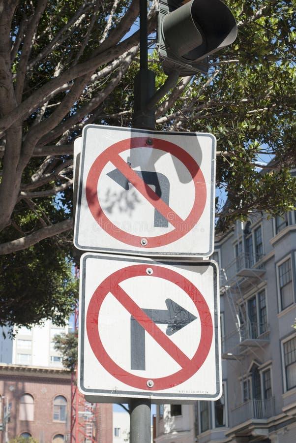 Ingen väg! Vänd inte royaltyfria bilder