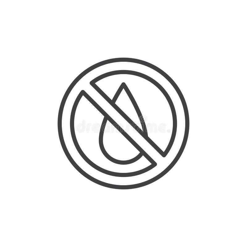 Ingen vattenöversiktssymbol stock illustrationer