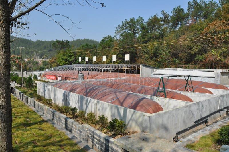 Ingeniería del biogás imagen de archivo