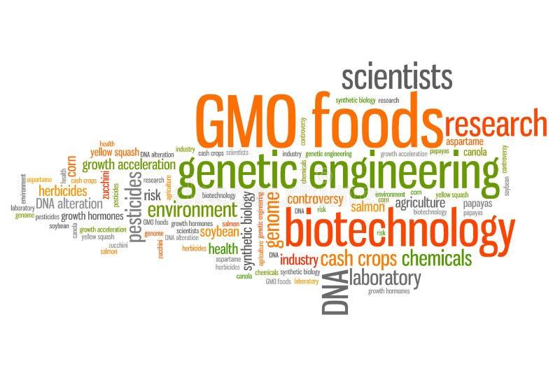Ingeniería genética de la comida stock de ilustración