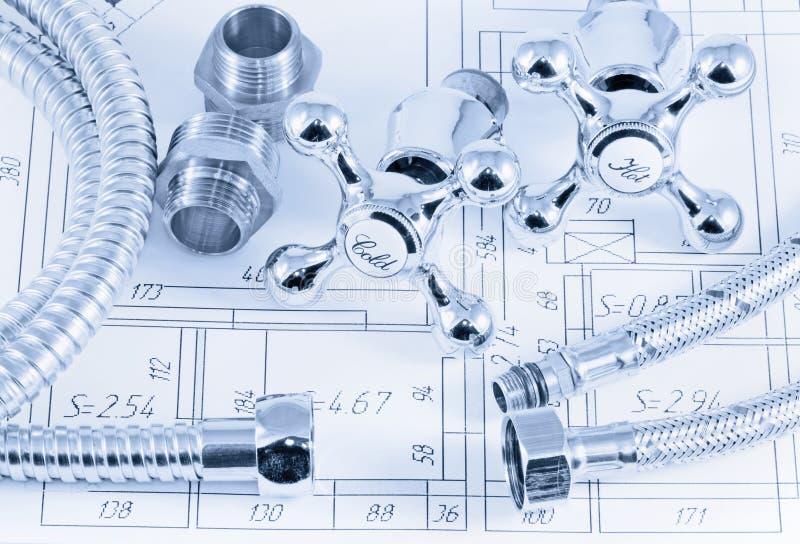 Ingeniería sanitaria imagen de archivo libre de regalías