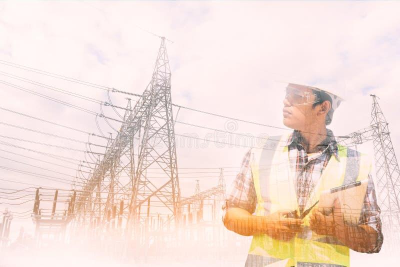 Download Ingeniero foto de archivo. Imagen de electricidad, planta - 100529996