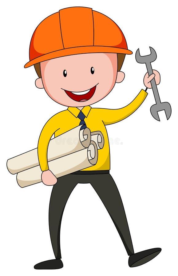 Ingeniero stock de ilustración