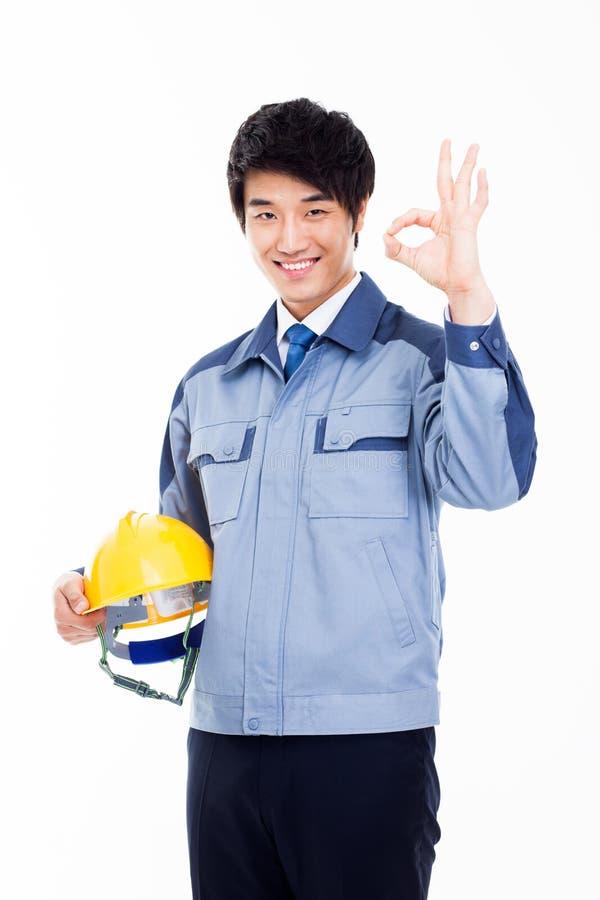 Ingeniero asiático joven. fotografía de archivo