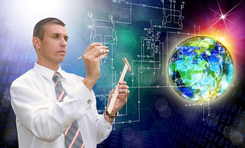 Download Ingeniero Comunicación Tecnología De Diseño Industrial Foto de archivo - Imagen de diseño, global: 42430418