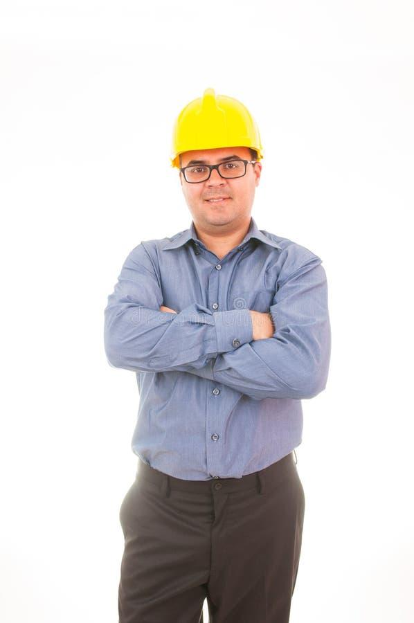 Ingeniero con el casco imagen de archivo libre de regalías
