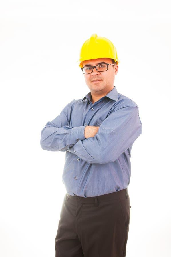 Ingeniero con el casco fotos de archivo