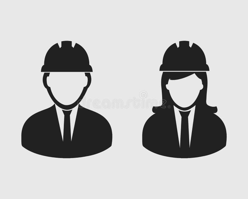 Ingeniero Couple Icon ilustración del vector