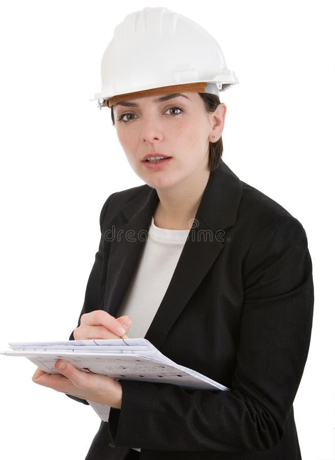 Ingeniero de la mujer. foto de archivo
