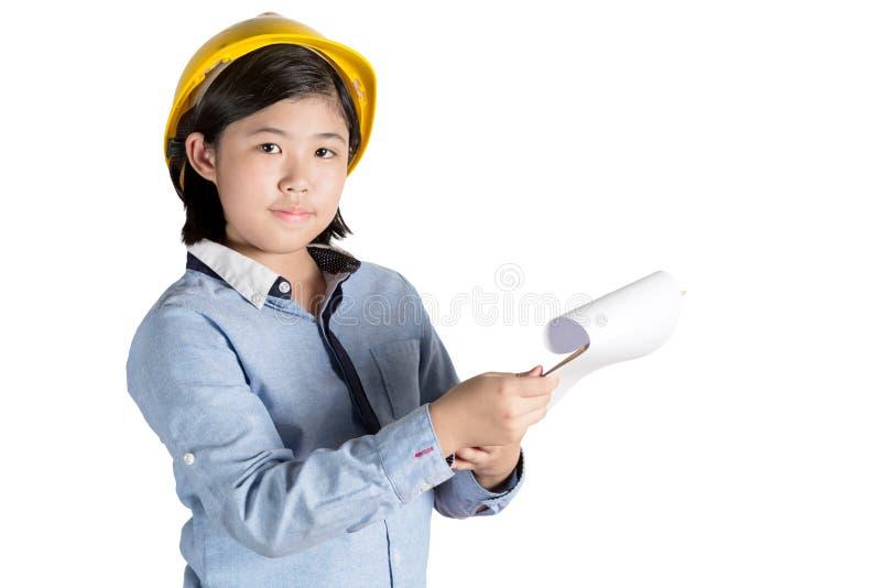 Ingeniero de la niña imagen de archivo libre de regalías