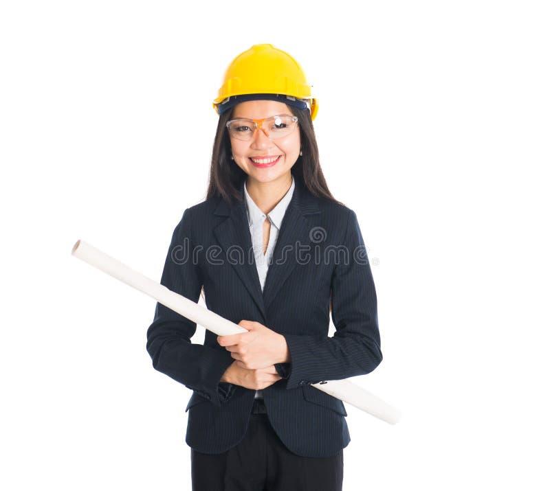 Ingeniero de sexo femenino asiático foto de archivo libre de regalías